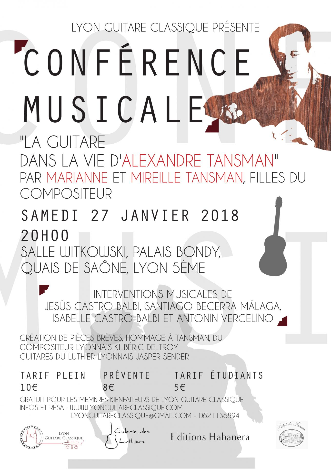Conference musicale tansman 27 01 18