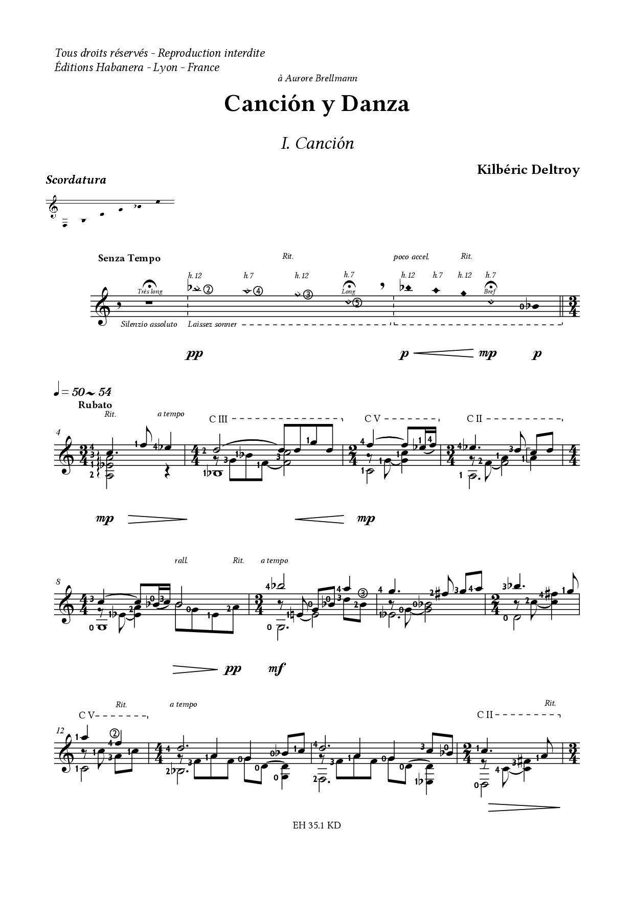 Eh 35 1 kd cancion y danza kilberic deltroy extrait